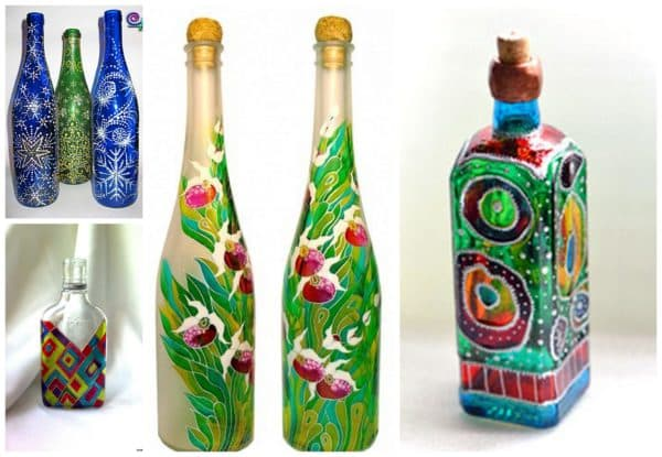 Декор бутылки шпагатом