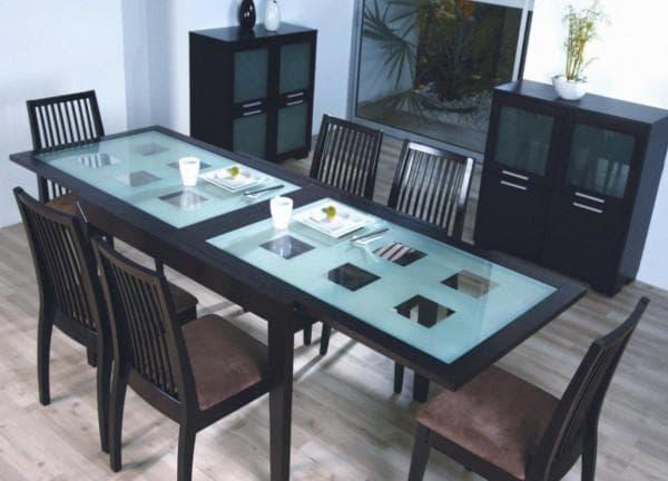 Стол стеклянный раскладной кухонный