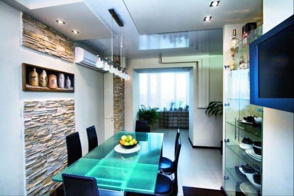Столы с подсветкой придают кухне нереальности