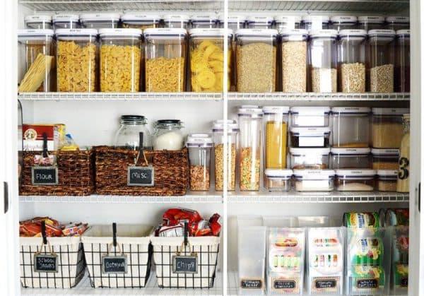 хранения круп на кухне