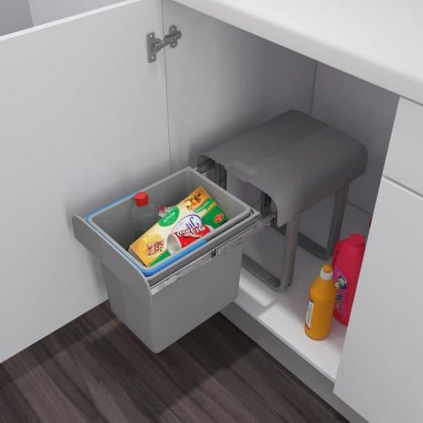 ящик для мусора на дверце шкафа для квартиры