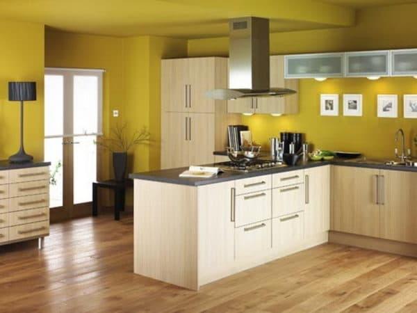 В какой цвет покрасить стены на кухне