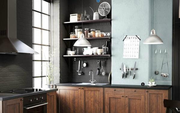 Полки для кухни навесные