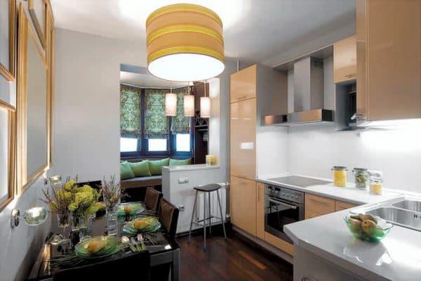 кухня кладовая объединенная с балконом