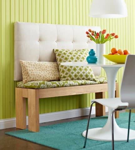 маленький диван навесная скамья на кухню