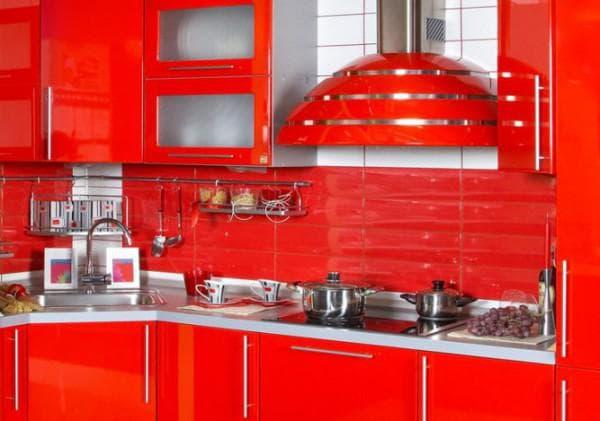 Цвет кухни сочетание цветов: Красно белая