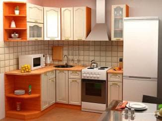 угловые кухни эконом класса