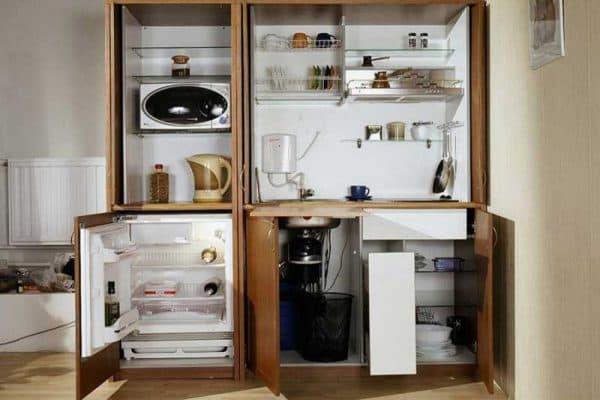 один из варианта мини кухни