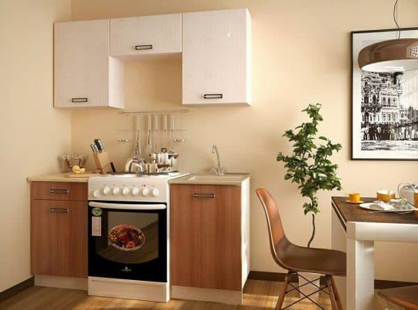 мини кухня в виде пирамиды