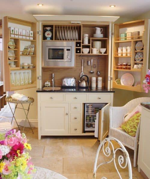 Мини кухня для маленького помещения
