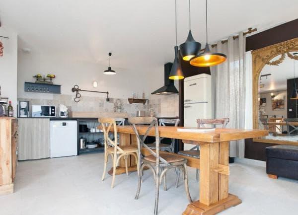 Подвесной светильник для кухни над столом,