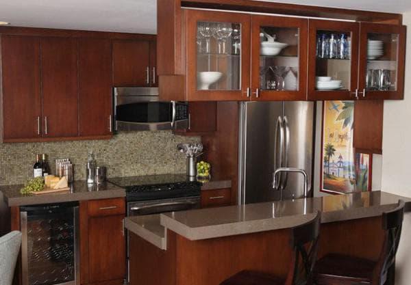 Размеры кухонных фасадов распашные двери - классика