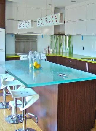 Стол стеклянный кухонный раздвижной