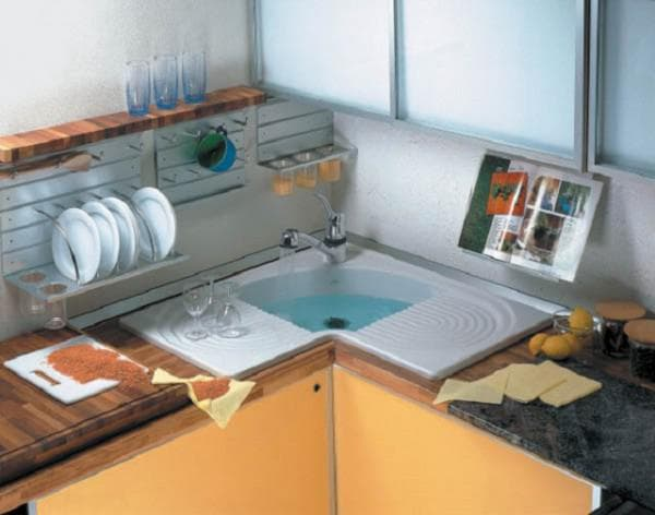 Угловые мойки для кухни