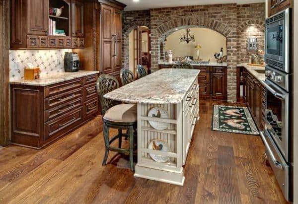 интерьер кухни в стиле рустик