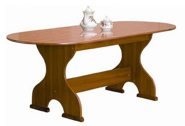 кухонные овальные столы из ДСП