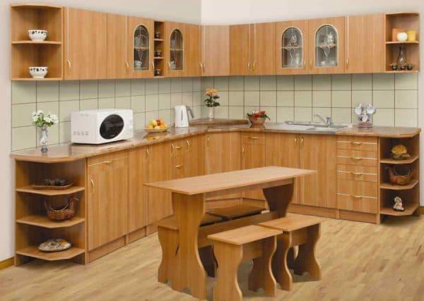 кухонные шкафы в кухне из ДСП
