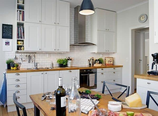 кухонные шкафы для кухни в два ряда