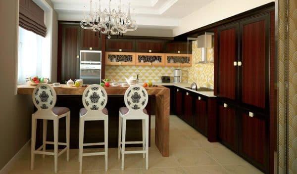 интерьере кухни в стиле фьюжн