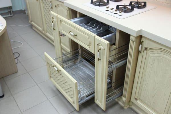 посудные шкафы на кухню с сушкой