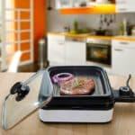 Удобная электрическая сковорода гриль