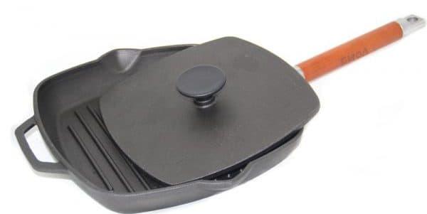 чугунная сковорода гриль для индукционных плит