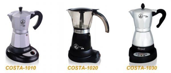 электрическая гейзерная кофеварка Endever Costa 1010