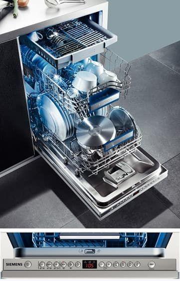 встраиваемая узкая посудомоечная машина Siemens SR 66 ТО 90
