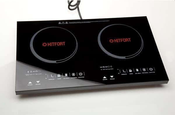 двухкомфорочная индукционная плита Kitfort