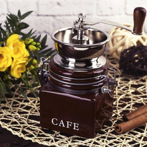 ручные кофемолки с жерновами