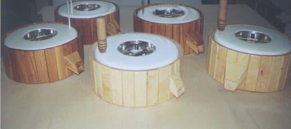 каменные жернова ручной кофемолки