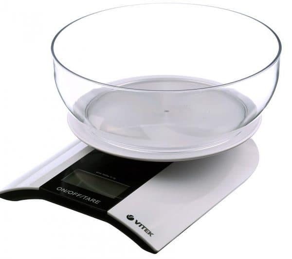 электронные кухонные весы с чашей отключение марки VITEK VT-2415