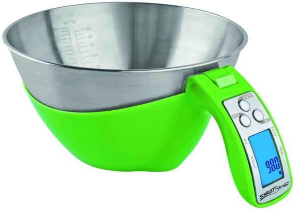 электронные кухонные весы с чашей Scarlett SC