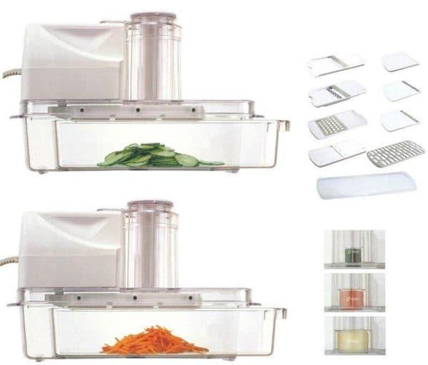 плоская электрошинковка для овощей