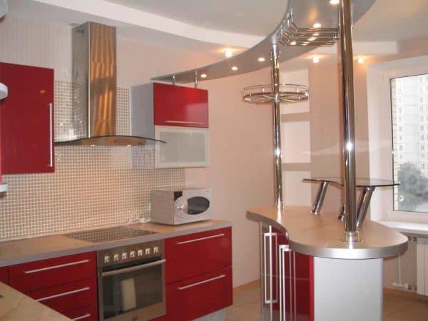 барная стойка в формате мини на кухне