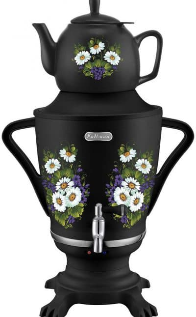 электрический самовар с заварочным чайником