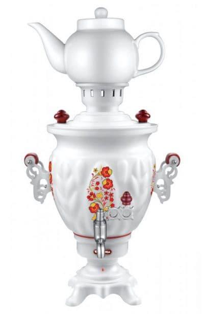 электрический самовар с заварочным чайником Чудесница