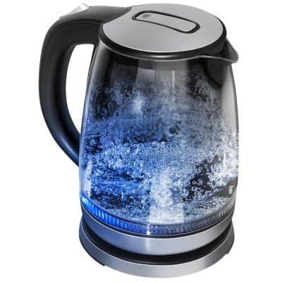 чайник электрический стеклянный с подсветкой Redmond