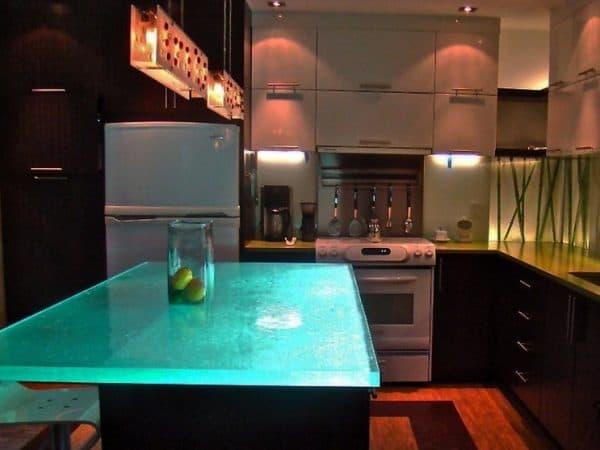 Led подсветка кухонного гарнитура над барной стойкой