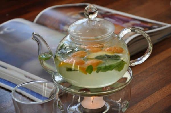 заварочный чайник с подогревом от свечи YAMA Glass