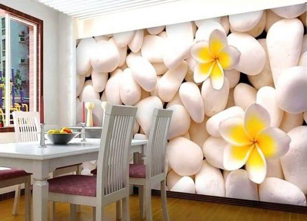 фотообои на стену на кухню с огромными цветами