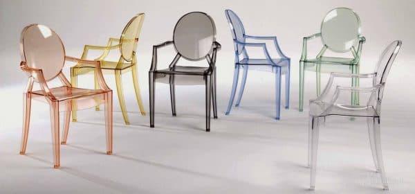 стул для кухни с подлокотниками в стиля хай тек