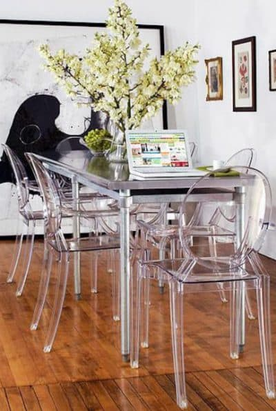 прозрачный стул для кухни tulip