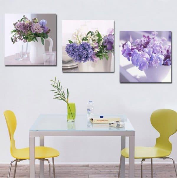 современная картина на кухню в виде цветка