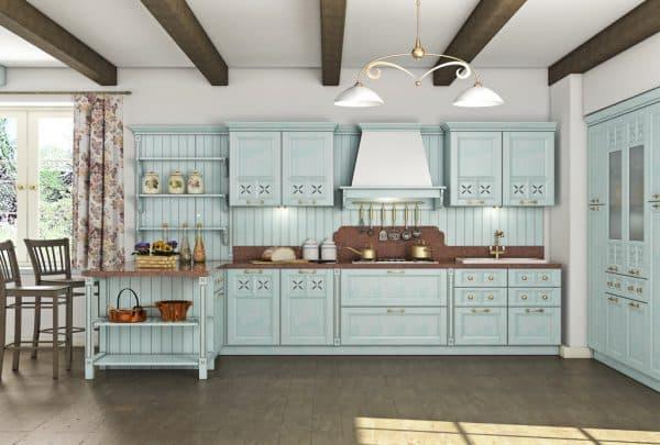 современные кухонные гарнитуры в стиле прованс