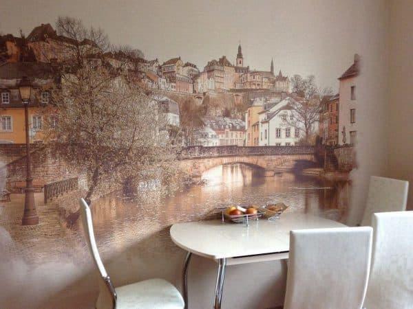 современная картина на кухню в виде акварельного рисунка