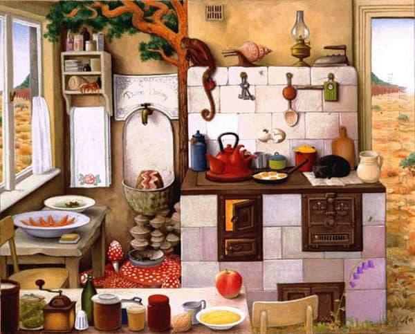 картины бабушкины тарелки на кухню