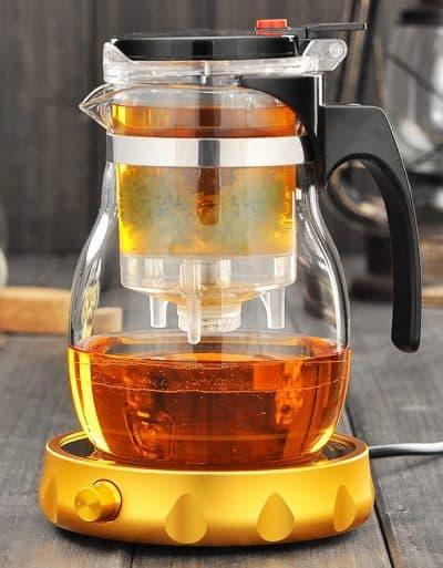 заварочный чайник с подогревом с фильтром