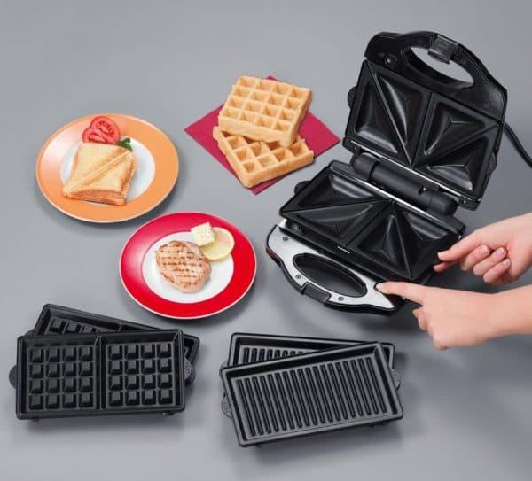 электрическая вафельница для тонких вафель с антипригарным покрытием