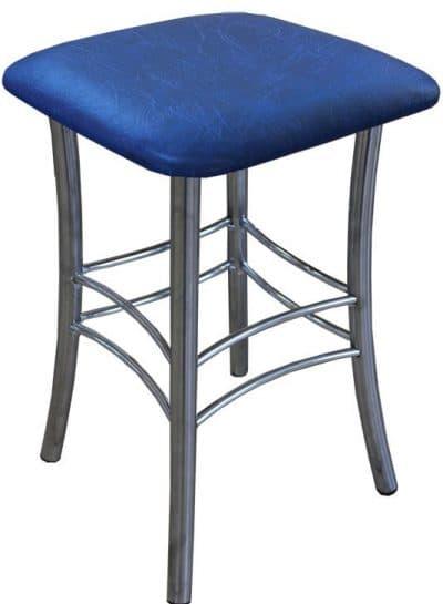 квадратный табурет для кухни с мягким сиденьем